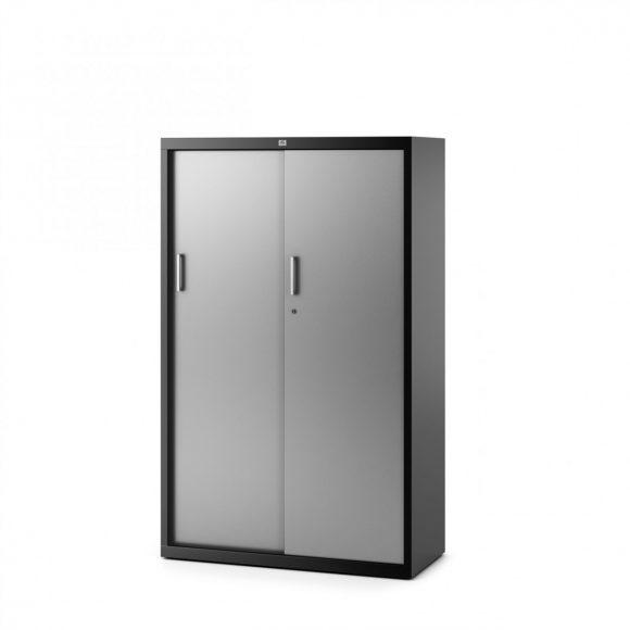 Armario alto metálico con puertas correderas
